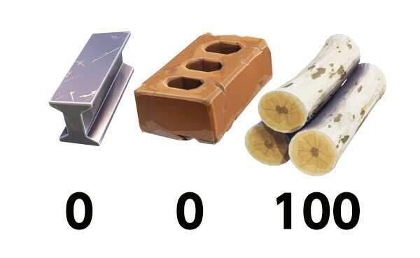 少ない資材で有効な建築