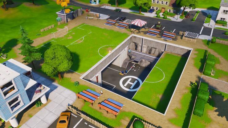 さらにプレザントパークのサッカー場がヘリポートに変わってます。