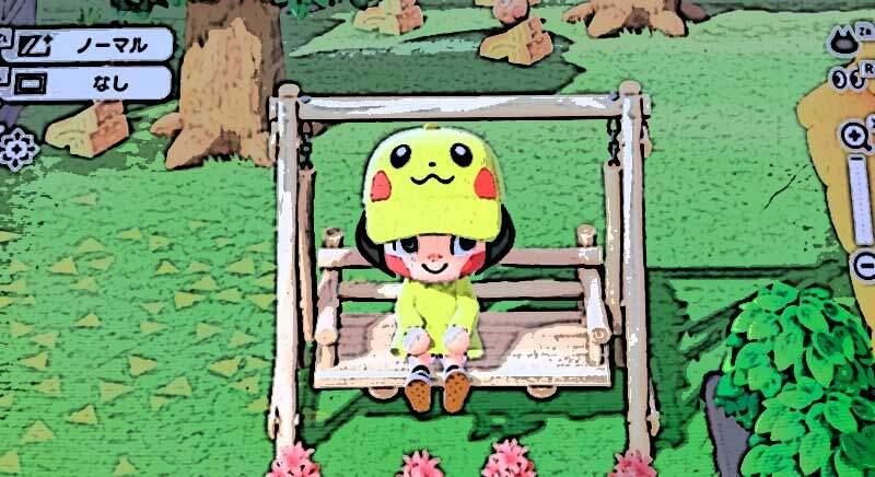【あつ森】マイデザインで娘が「ポケモンのピカチュウ」を作った!あのんのアトリエ