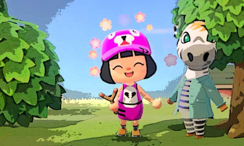 【あつ森】マイデザインで娘が「フォートナイトのピンククマ」を作った!あのんのアトリエ
