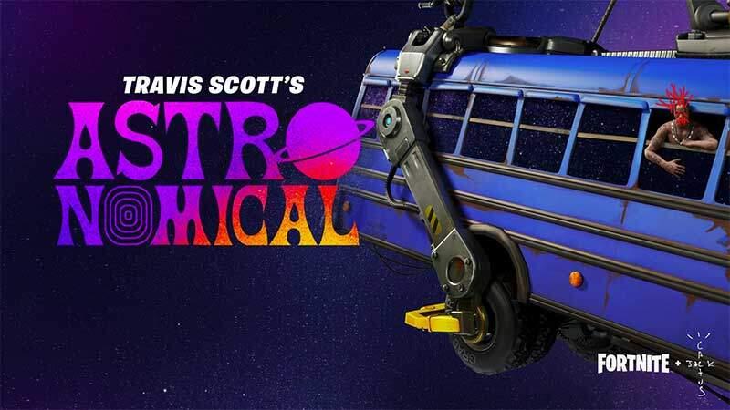 フォートナイトのワンタイムイベントTRAVIS SCOTTのライブイベントが開催決定!